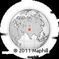 Outline Map of Kepchun Brok, rectangular outline