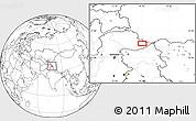 Blank Location Map of Khorkondus