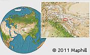 Satellite Location Map of Khorkondus