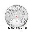 Outline Map of Khorkondus, rectangular outline