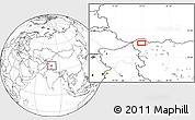 """Blank Location Map of the area around 35°24'37""""N,79°7'30""""E"""