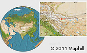 """Satellite Location Map of the area around 35°24'37""""N,79°7'30""""E"""