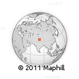 Outline Map of Tianshuihai, rectangular outline