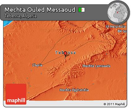 Political 3D Map of Mechta Ouled Messaoud