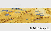 "Physical Panoramic Map of the area around 35° 24' 37"" N, 7° 43' 29"" E"