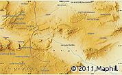 """Physical Map of the area around 35°24'37""""N,8°34'29""""E"""