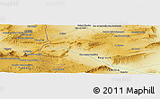 Physical Panoramic Map of Mechta Ouled Saad