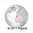 """Outline Map of the Area around 35° 24' 37"""" N, 8° 25' 30"""" W, rectangular outline"""