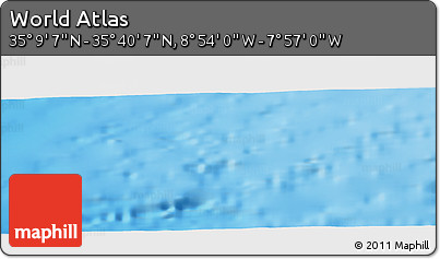 """Shaded Relief Panoramic Map of the Area around 35°24'37""""N,8°25'30""""W"""
