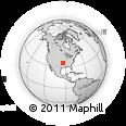 Outline Map of East Northbrook Drive, rectangular outline