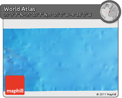 """Shaded Relief 3D Map of the Area around 35°24'37""""N,9°16'30""""W"""