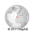 """Outline Map of the Area around 35° 24' 37"""" N, 9° 16' 30"""" W, rectangular outline"""