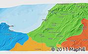 Political 3D Map of Mostaganem