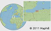 Savanna Style Location Map of Mostaganem