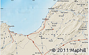 Shaded Relief Map of Mostaganem