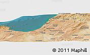 Satellite Panoramic Map of Mostaganem