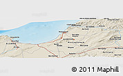 Shaded Relief Panoramic Map of Mostaganem