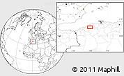 Blank Location Map of Bel Hacel
