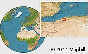 Satellite Location Map of Bel Hacel