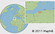 Savanna Style Location Map of Bel Hacel
