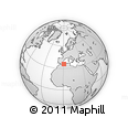 """Outline Map of the Area around 35° 52' 19"""" N, 0° 55' 29"""" E, rectangular outline"""