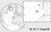 """Blank Location Map of the area around 35°52'19""""N,10°7'30""""W"""