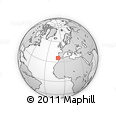 """Outline Map of the Area around 35° 52' 19"""" N, 10° 7' 30"""" W, rectangular outline"""