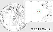 """Blank Location Map of the area around 35°52'19""""N,10°58'29""""W"""