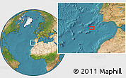 """Satellite Location Map of the area around 35°52'19""""N,10°58'29""""W"""