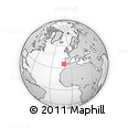 """Outline Map of the Area around 35° 52' 19"""" N, 10° 58' 29"""" W, rectangular outline"""