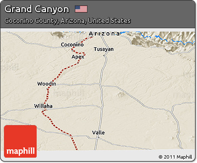 Free Shaded Relief Panoramic Map Of Grand Canyon