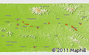 """Physical 3D Map of the area around 35°52'19""""N,117°22'30""""E"""