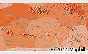 """Political 3D Map of the area around 35°52'19""""N,117°22'30""""E"""