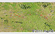"""Satellite 3D Map of the area around 35°52'19""""N,117°22'30""""E"""