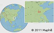 "Savanna Style Location Map of the area around 35°52'19""N,117°22'30""E"