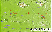 """Physical Map of the area around 35°52'19""""N,117°22'30""""E"""