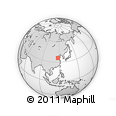 """Outline Map of the Area around 35° 52' 19"""" N, 117° 22' 30"""" E, rectangular outline"""