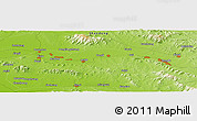 """Physical Panoramic Map of the area around 35°52'19""""N,117°22'30""""E"""