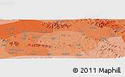 """Political Panoramic Map of the area around 35°52'19""""N,117°22'30""""E"""