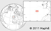 """Blank Location Map of the area around 35°52'19""""N,11°49'29""""W"""