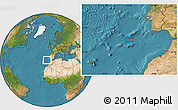 """Satellite Location Map of the area around 35°52'19""""N,11°49'29""""W"""