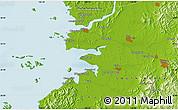 Physical Map of Chŏnju