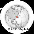 Outline Map of Chŏnju, rectangular outline