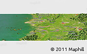Satellite Panoramic Map of Changwŏn