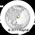 Outline Map of Taegu, rectangular outline