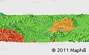 Political Panoramic Map of Taegu