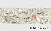 Shaded Relief Panoramic Map of Taegu