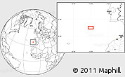 """Blank Location Map of the area around 35°52'19""""N,12°40'30""""W"""