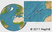 """Satellite Location Map of the area around 35°52'19""""N,12°40'30""""W"""
