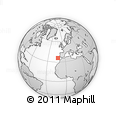 """Outline Map of the Area around 35° 52' 19"""" N, 12° 40' 30"""" W, rectangular outline"""